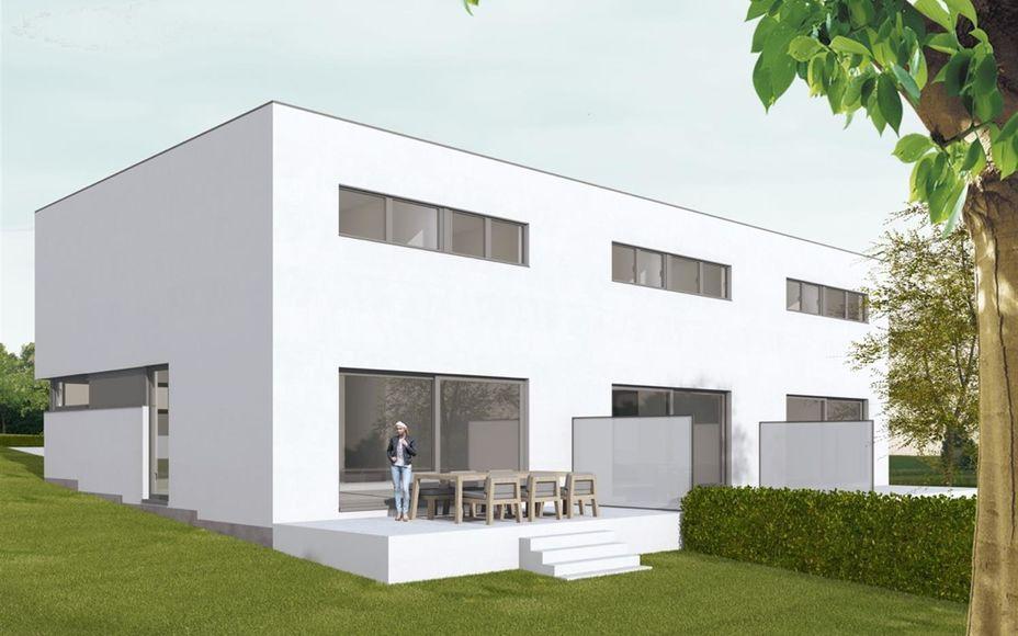 Nieuw te bouwen woningen in doodlopende straat in residentiële wijk ! Deze woningen bevinden zich in het centrum van Asse nabij alle faciliteiten. De woningen beschikken over een voortuin, terras en tuin aan de achtergevel van de woning. Er wordt gebouwd