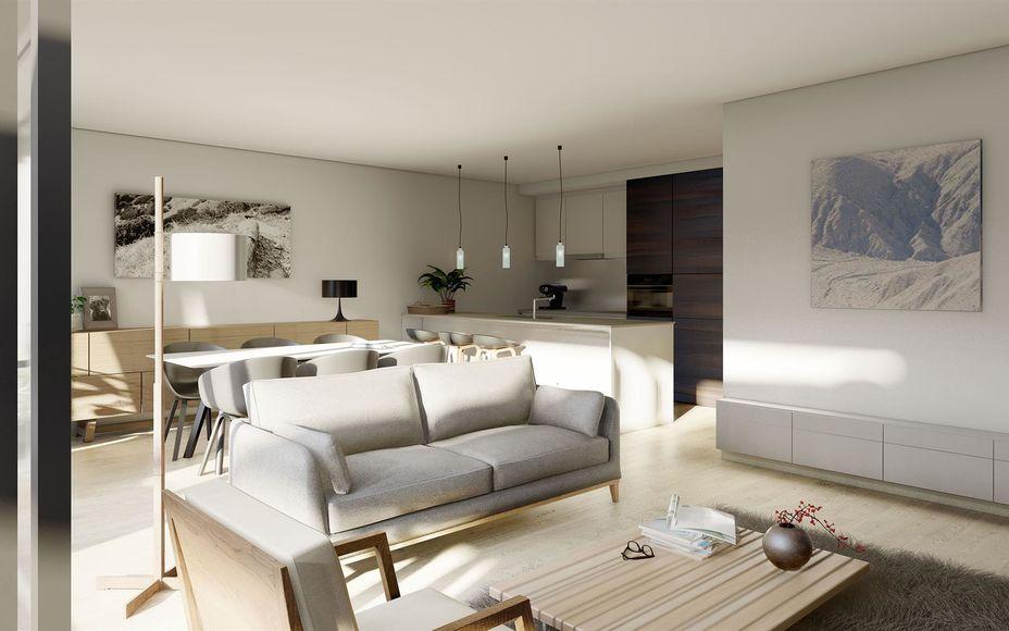 Nieuwbouwproject HORTUS: een architecturaal pareltje  Op een topligging in Ninove wordt binnenkort dit schitterend appartementsgebouw opgetrokken;  GELIJKVLOERS: 4 gelijkvloerse appartementen met 2 slaapkamers met privétuinen  EERSTE VERDIEPING: 3 appart