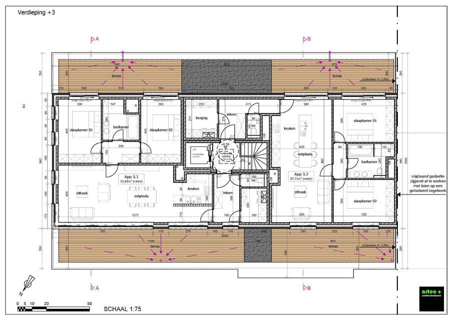 3de verdieping