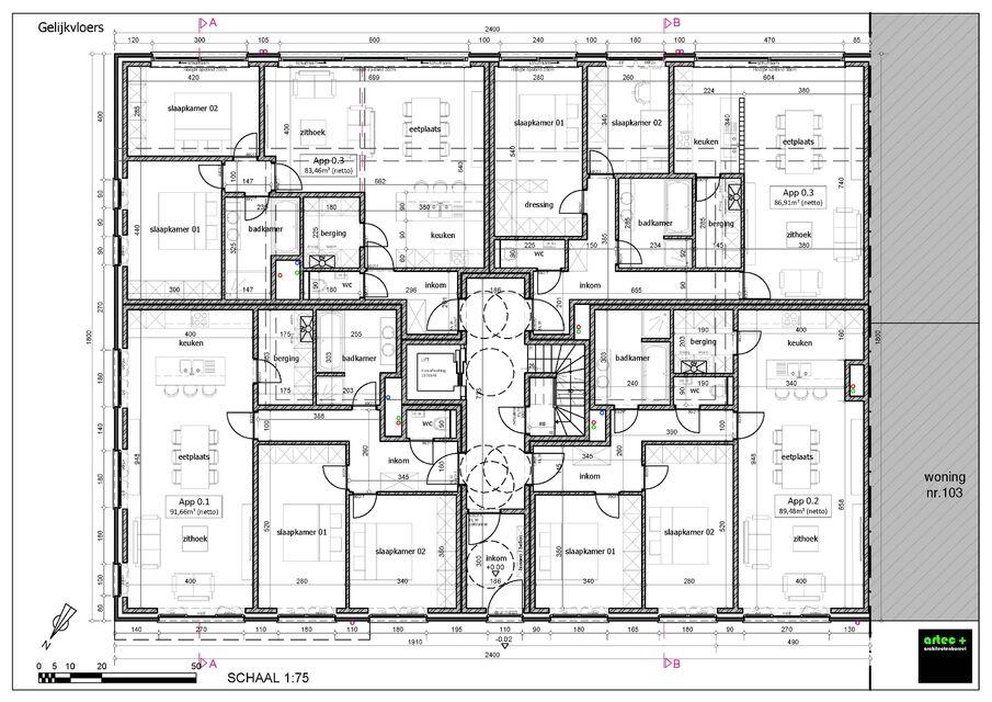 gelijkvloerse verdieping