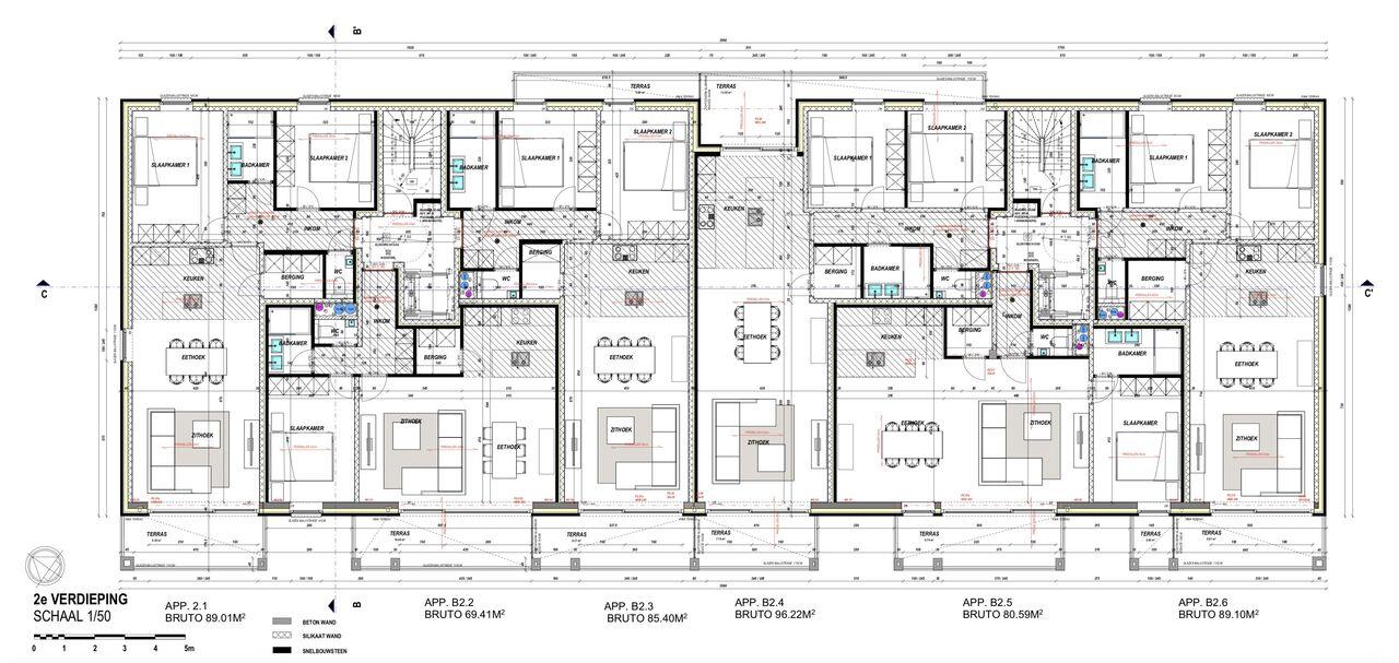 Verdieping 2 - gebouw B