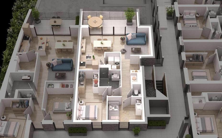 Geniet van alle voordelen van wonen in het hart van Asse.   Dit uitzonderlijk appartement met 2 slaapkamers beschikt over een zéér ruim terras van maar liefst 16,60m² en geeft uit op het nieuw te creëren plein op de hoek van de Steenweg en de Nieuwstr